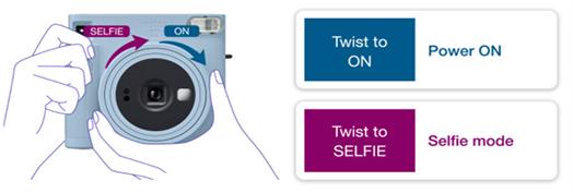 קלות בתפעול, סובב את העדשה לצורך הפעלת המצלמה, והמשך לסובב כדי לצלם סלפי
