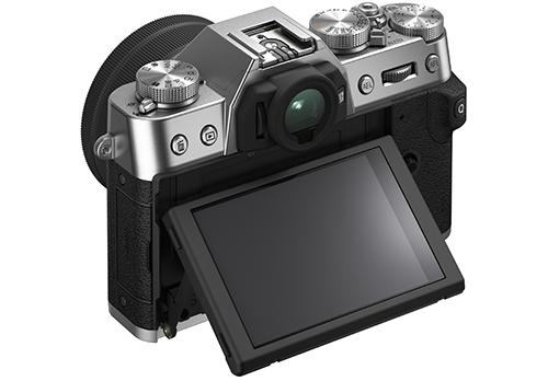 X-T30Ⅱ_back_diagonal_LCDtilt_low angle_15-45_silver