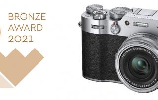 זכייה במדליית ארד לעיצוב מצלמת פוג'יפילם X100V